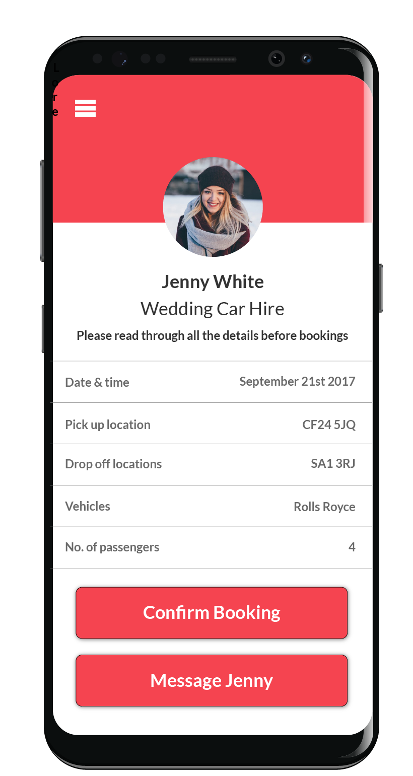 Anything for hire Android Mockup